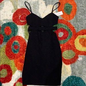 Solemio NWT black cutout dress